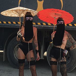 The Twins at Burning Man